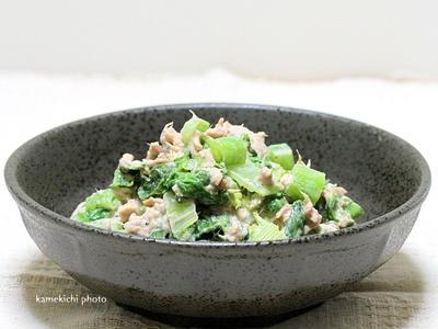 >いただき物の高菜で「高菜のツナマヨ和え」&今回のメシ通さんは「豆腐料理」です! by かめきちパパさん