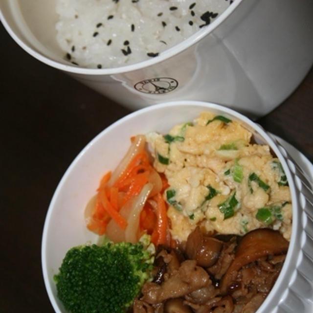 10月8日  椎茸と豚肉の甘辛炒めランチ