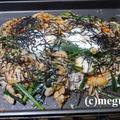 豚キムチ&ビビンバ風の夕食