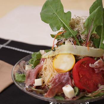 ベジスイーツ 夏野菜たっぷり! さっぱり黒酢の冷製パスタ♪