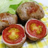 ミニトマトの豚こま巻き<カリカリ、ジュワッー>
