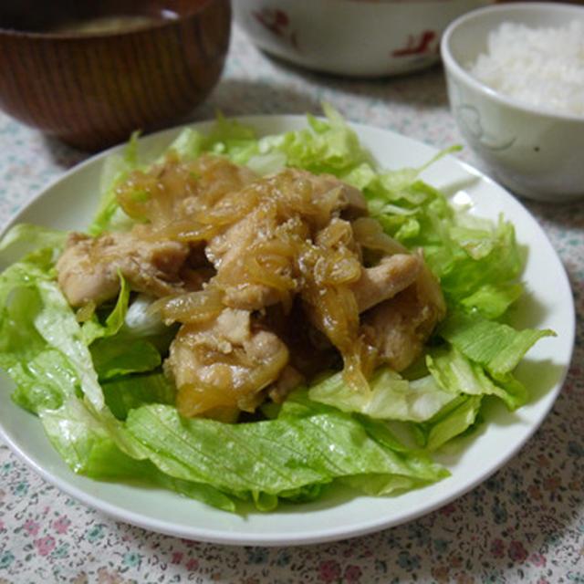 鶏肉と玉ねぎの甘辛炒め