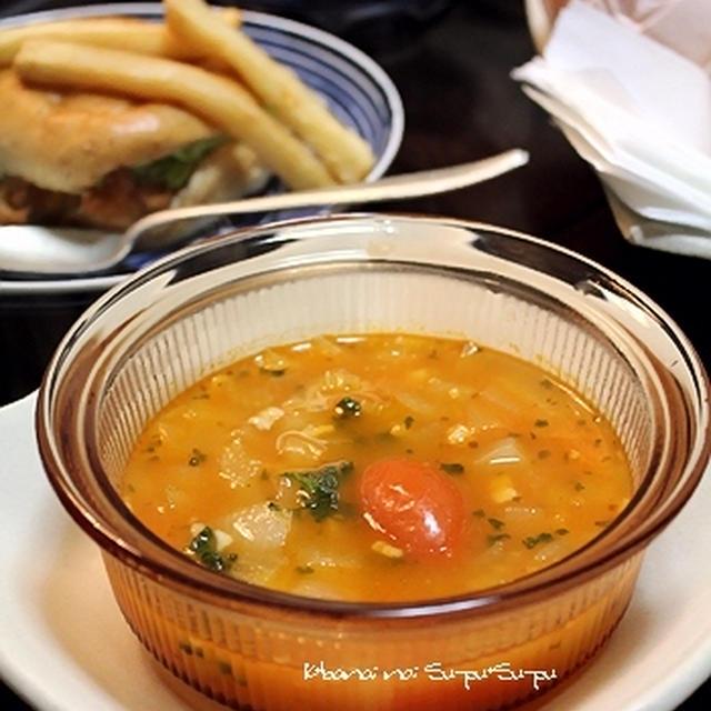 ホウロウ鍋でスープ料理