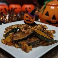 ナッツとかぼちゃのスパイス炒め