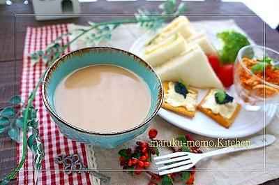 茶葉から淹れるジンジャーミルクティーと独りのブランチ。