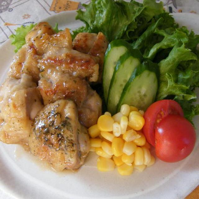 鶏肉のハニーレモン炒め にんにく香草風味、とお弁当