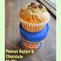 ピーナツバターとチョコレートのマフィン by つぶこさん