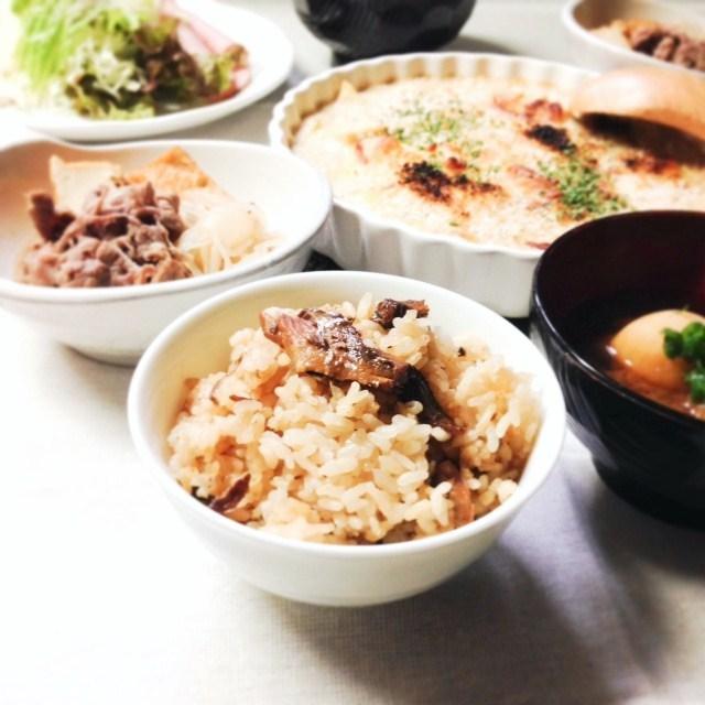 【 簡単!鰯の缶詰と生姜の炊き込みご飯 】