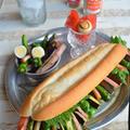 多国籍バインミー! 夏野菜とハムで簡単スタミナランチ -スパイス大使- #bánh mì thịt