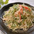 もやしとカニカマのサラダ マヨネーズドレッシング もやしの保存方法 もやしの効能効果