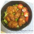 若鶏の竜田揚げで照り焼き丼弁当