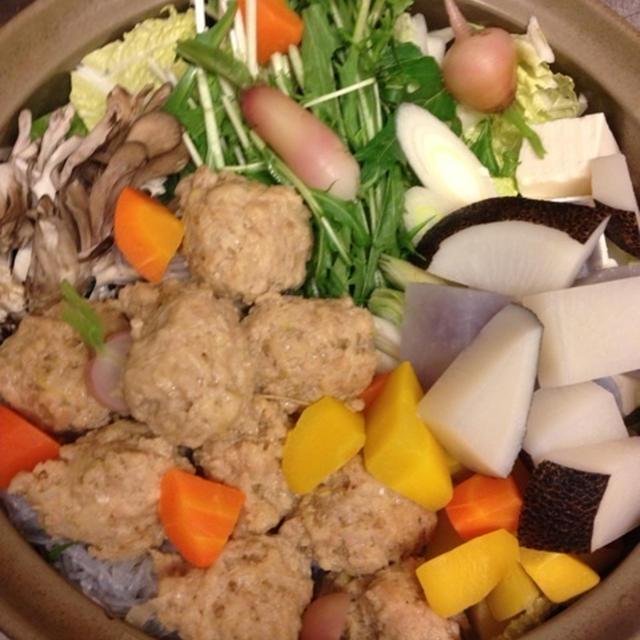 鳥のつくねと野菜和風鍋