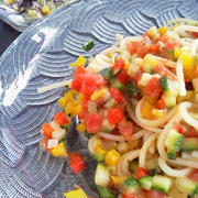 ラタトゥーユの冷製スパゲティ