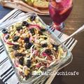 栄養満点&ヘルシー♪簡単、5分以内でだせる 紫タマネギとキャベツとチアシードのマスタードマリネ