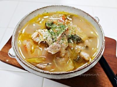 梅雨レシピ①~豚肉とセロリのスープ~