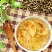 薄切りジャガイモのグラタン