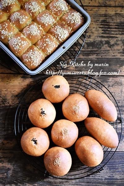 あんぱんとちぎりパン、そして、梅がたくさん