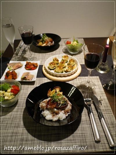 おうちご飯 フォアグラ丼とホタテのオーブン焼き♪