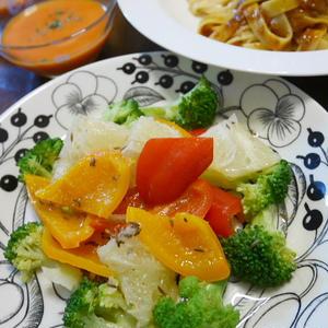 グレープフルーツとキャラウエイのドレッシングのサラダ