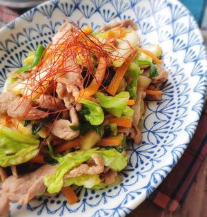 楽うま♡春キャベツと豚こまの上海風炒め