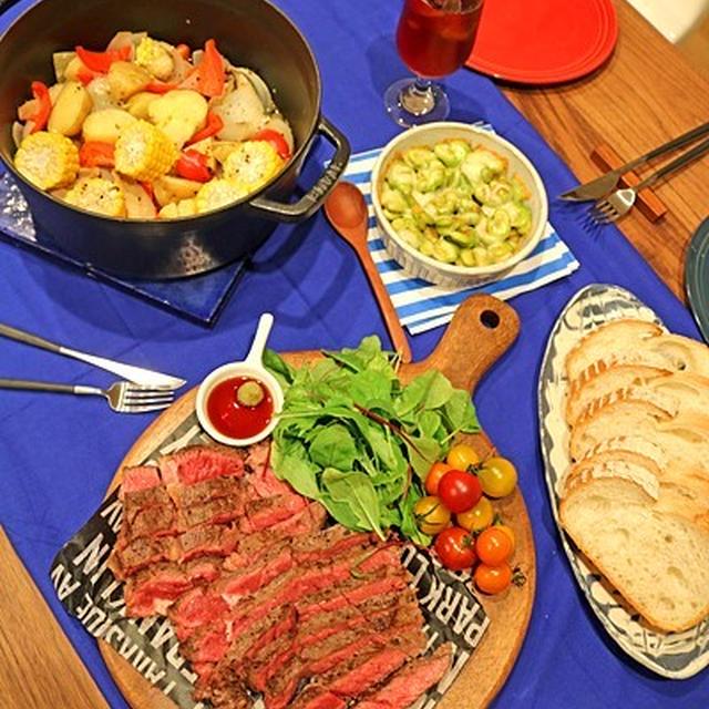 焼くだけ簡単肉料理で主人の誕生日パーティー♪