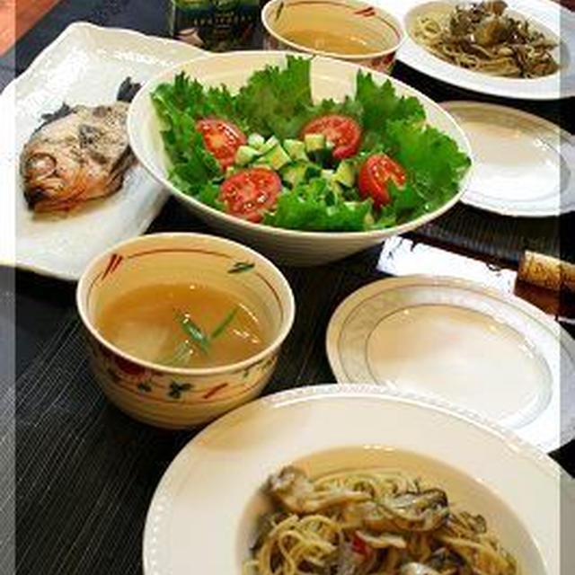 ◆牡蠣のオイル漬けでパスタ♪~可愛いキントキタイ♪