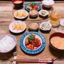【ヤンニョムチキン】と簡単!塩昆布キャベツ