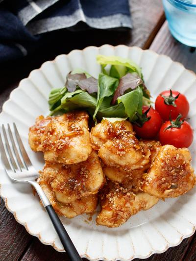 むね肉deネギごまチキン【#作り置き #冷凍保存 #お弁当 #驚異の柔らかさ #主菜】