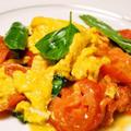 凝縮されたトマトの旨味と酸味と卵の柔らかさがマッチした トマトと卵の炒め物