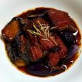 鰻と茄子の赤ワイン煮