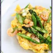 香菜と魚醤の卵炒め
