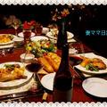 クリスマス・イブのディナー「ローストチキン&お星様サラダ」♪