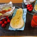 どっちもめちゃうま☆バターチーズとバターハニーのナン♪☆♪☆♪ by みなづきさん