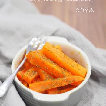【レシピ】レンジで1発♡簡単で美味しい人参の食べ方♡人参のカレー塩♡