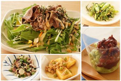 ≪5月のレッスンは野菜をふんだんに使った和食≫
