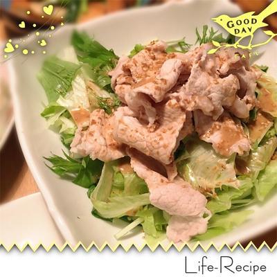 【お湯と水だけ!】豚しゃぶサラダを作るなら、絶対覚えておきたいたった一つのコツ!