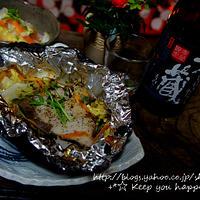 +*鰤(ブリ)と白菜の黒ホイル焼き+*