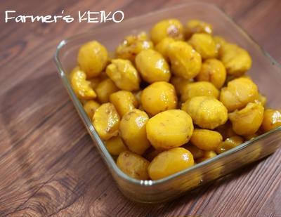 栗の甘露煮と、【ねぎのレシピ】ねぎワンタン、せせりとねぎの甘辛炒め