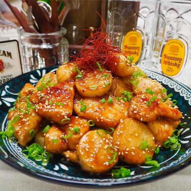 【レシピ】ごま油薫る♬鶏むね肉と長芋の甘酢炒め♬