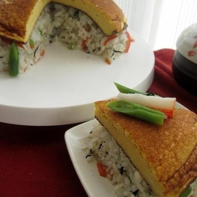 ふわふわ玉子帽子のお寿司 sushi+