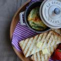 ストウブで「アスパラチーズオムレツの朝食」