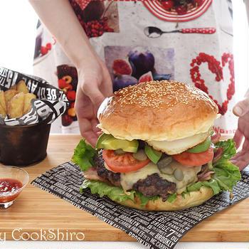 家族が驚く巨大ハンバーガーを作ろう