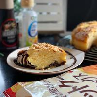 ホケミでチョコ入りパウンドケーキと諦めが早いパグ
