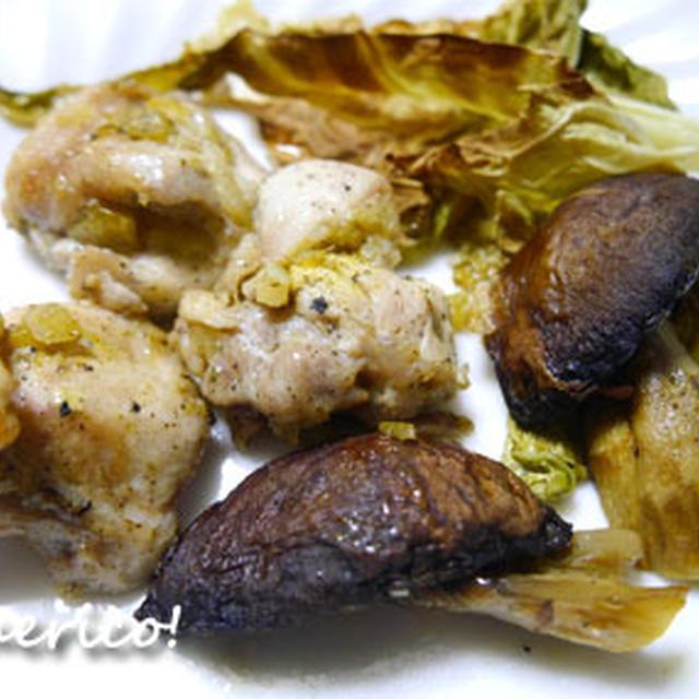 キノコのおいしさ満載!チキンとマッシュルームのマリネード焼き&きのこのスープ