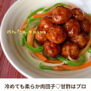 タレはプロの味    甘酢肉団子☆