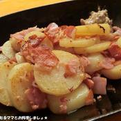 簡単★じゃが芋とベーコンのガーリック炒め