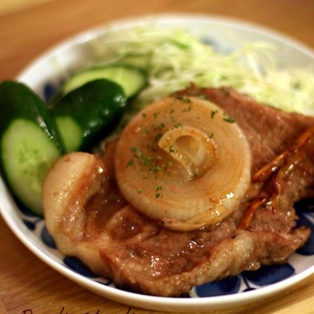 厚切り豚の生姜焼き