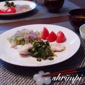 白身魚のニラだれ〜五香粉風味
