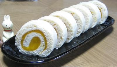 卵白でロールケーキ(薄力粉+コーンスターチ)