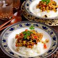 【肉・乳製品なし】野菜と大豆とクルミで作るドライカレー